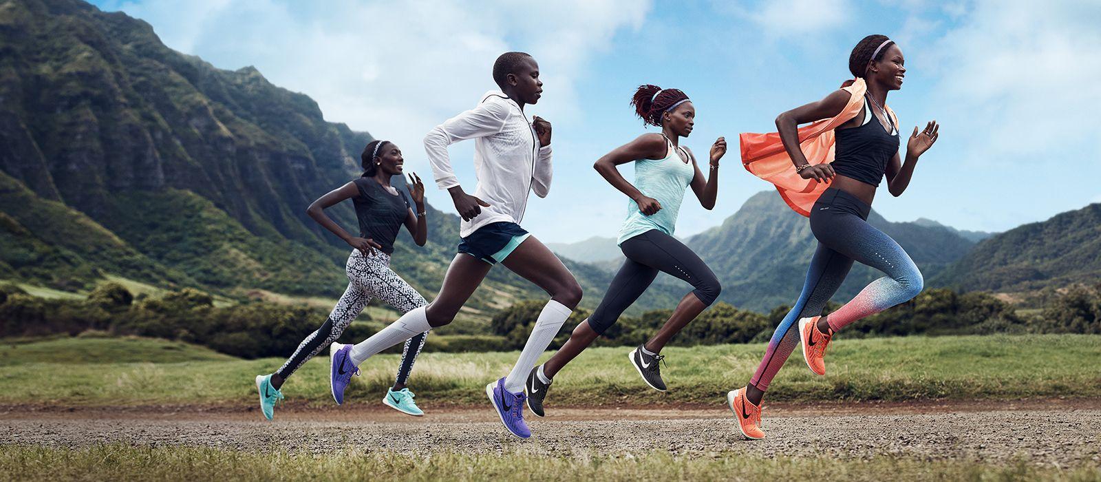 nike odziez i obuwie do biegania